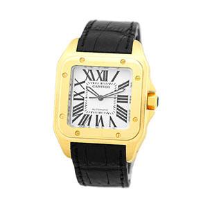 $10,000.00 Loan On Cartier Yellow Gold Santos 100
